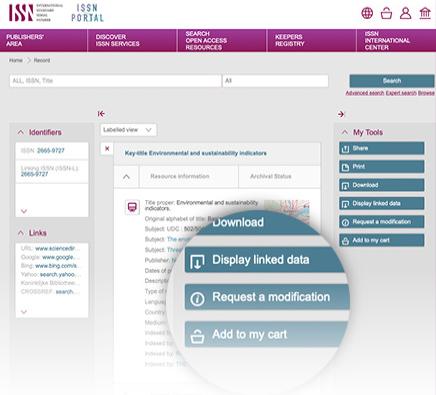 The Keepers Registry homepage